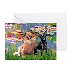 Lilies (2) & 2 Chihuahuas Greeting Cards (Pk of 20