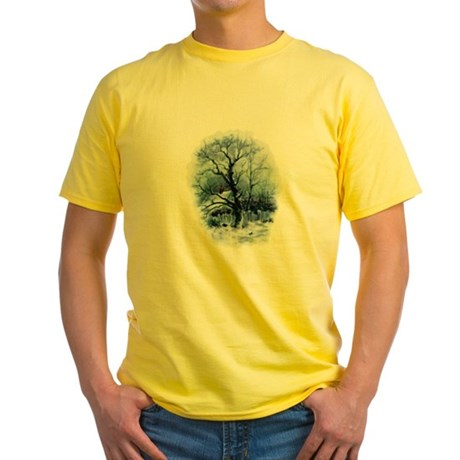 Winter Snowscene Yellow T-Shirt