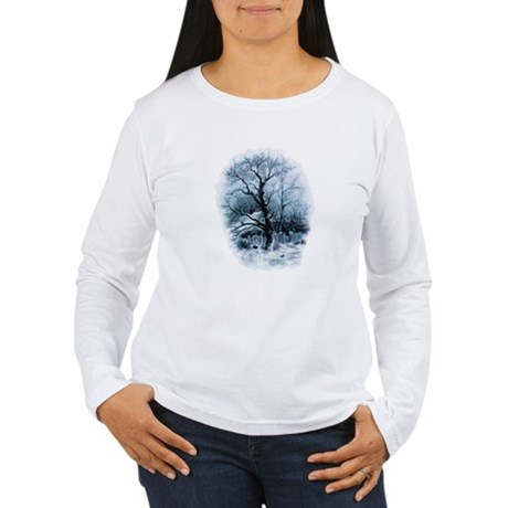 Winter Snowscene Women's Long Sleeve T-Shirt
