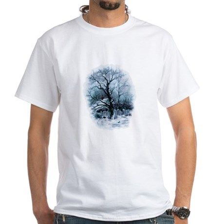 Winter Snowscene White T-Shirt