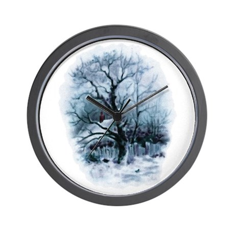 Winter Snowscene Wall Clock