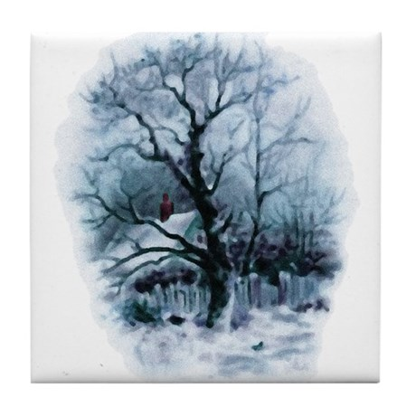 Winter Snowscene Tile Coaster
