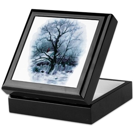 Winter Snowscene Keepsake Box