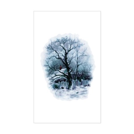 Winter Snowscene Rectangle Sticker