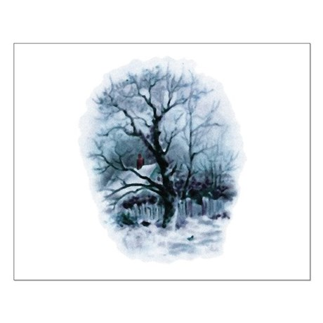 Winter Snowscene Small Poster