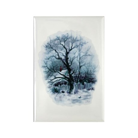 Winter Snowscene Rectangle Magnet (100 pack)