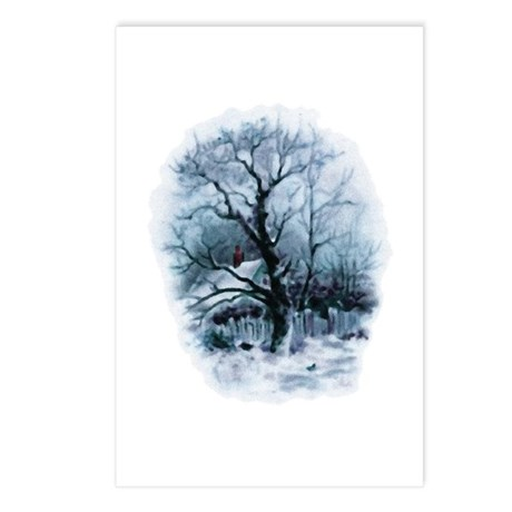 Winter Snowscene Postcards (Package of 8)