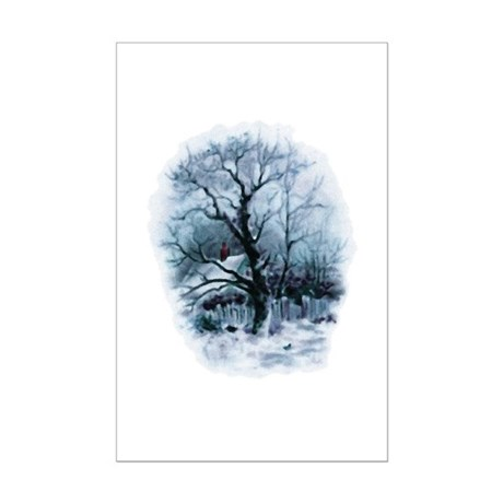 Winter Snowscene Mini Poster Print