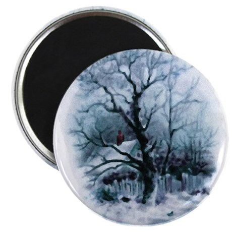"Winter Snowscene 2.25"" Magnet (100 pack)"