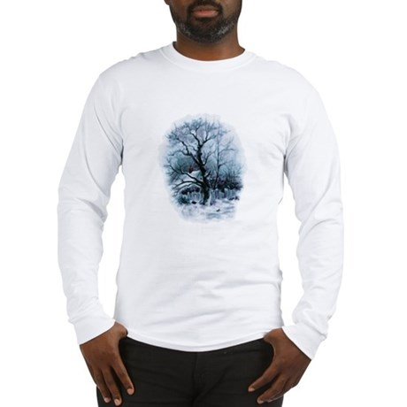 Winter Snowscene Long Sleeve T-Shirt
