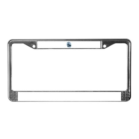 Winter Snowscene License Plate Frame