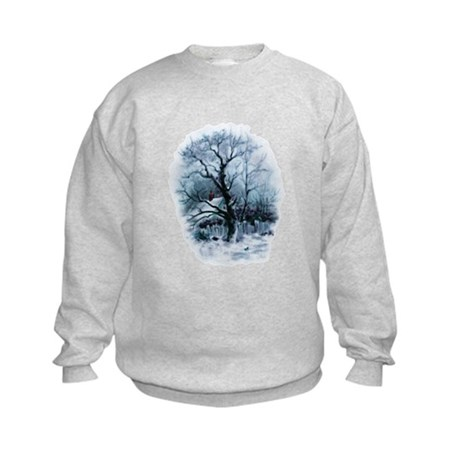 Winter Snowscene Kids Sweatshirt