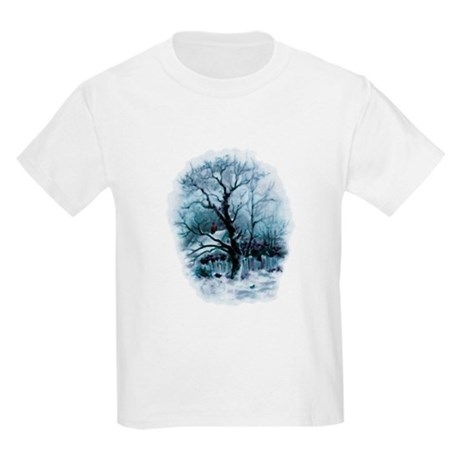 Winter Snowscene Kids Light T-Shirt