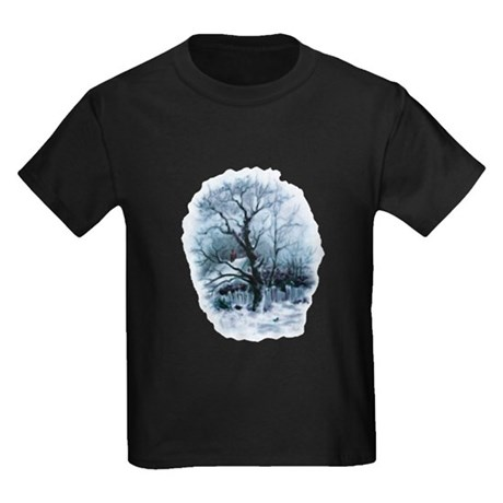 Winter Snowscene Kids Dark T-Shirt