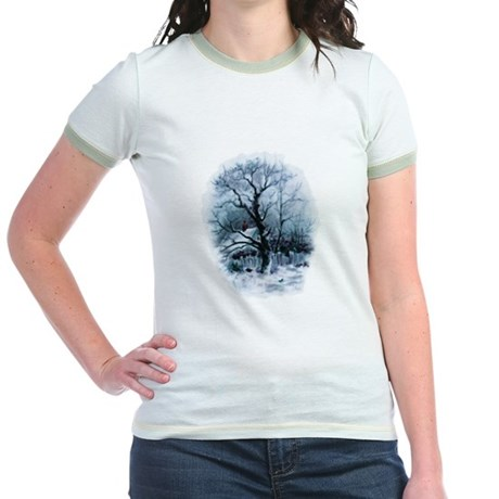 Winter Snowscene Jr. Ringer T-Shirt