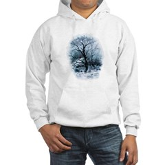 Winter Snowscene Hooded Sweatshirt