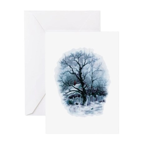 Winter Snowscene Greeting Card