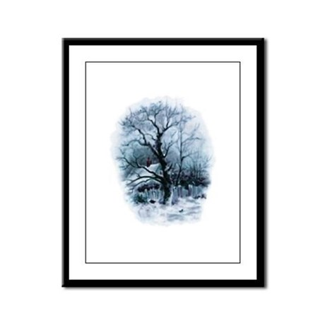 Winter Snowscene Framed Panel Print