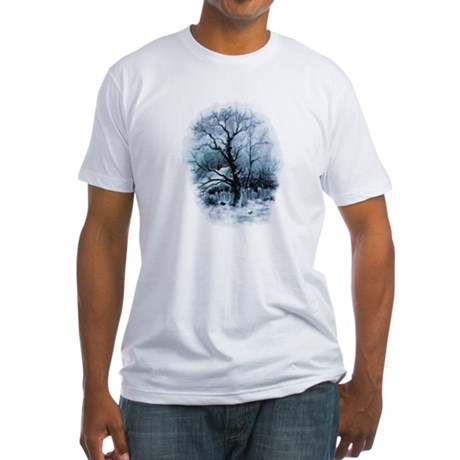 Winter Snowscene Fitted T-Shirt