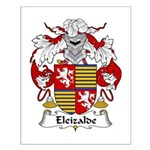 Eleizalde Family Crest Small Poster