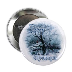 Christmas Snow Scene Button