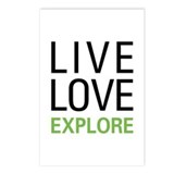 Live Love Explore Postcards (Package of 8)