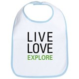 Live Love Explore Bib