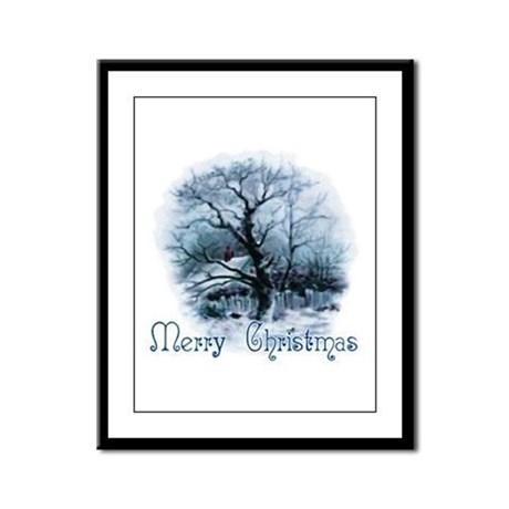 Merry Christmas Framed Panel Print