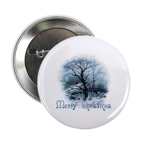 Merry Christmas 2.25&quot; Button (100 pack)