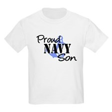 Proud Navy Son - Blue Anchor T-Shirt