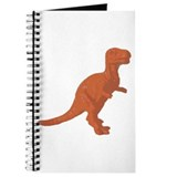 Orange Oldschool T.rex Journal