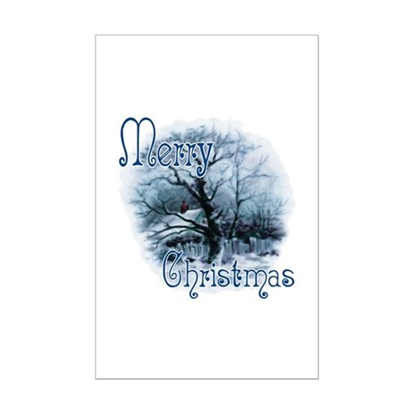Merry Christmas Mini Poster Print