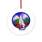 Wolf Ornament (Round)