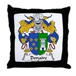 Donaire Family Crest Throw Pillow