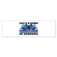 Lifes A Game Cheerleading Bumper Car Sticker
