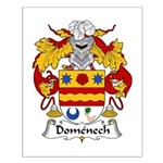Domenech Family Crest Small Poster
