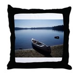 Scenic Canoe Throw Pillow