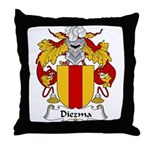 Diezma Family Crest Throw Pillow