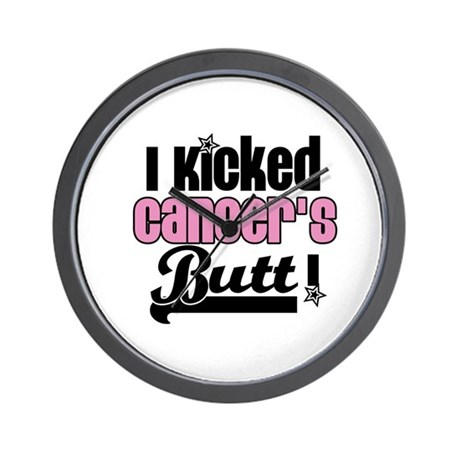 I Kicked Cancer's Butt Wall Clock