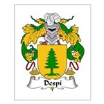Despi Family Crest Small Poster
