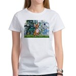 Lilies & Chihuahua Women's T-Shirt