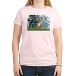 Lilies & Chihuahua Women's Light T-Shirt