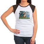Lilies & Chihuahua Women's Cap Sleeve T-Shirt