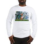 Lilies & Chihuahua Long Sleeve T-Shirt
