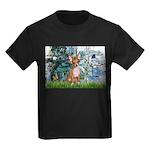 Lilies & Chihuahua Kids Dark T-Shirt