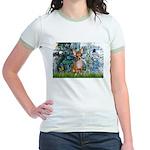 Lilies & Chihuahua Jr. Ringer T-Shirt