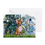Lilies & Chihuahua Greeting Cards (Pk of 10)