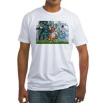 Lilies & Chihuahua Fitted T-Shirt
