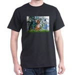 Lilies & Chihuahua Dark T-Shirt