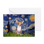 Starry Night Chihuahua Greeting Card
